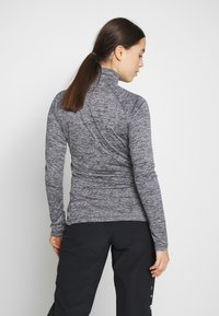Under Armour - TECH ZIP TWIST - Sports shirt - black/metallic silver - 2