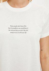 DeFacto - Print T-shirt - ecru - 3
