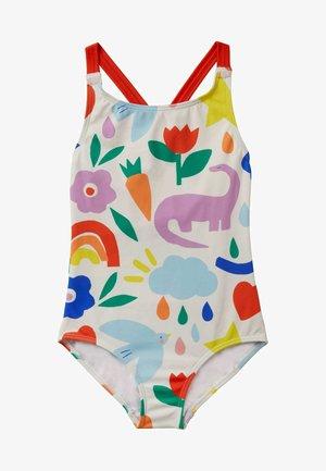 Swimsuit - naturfarben/bunt, glücklicher dinosaurier
