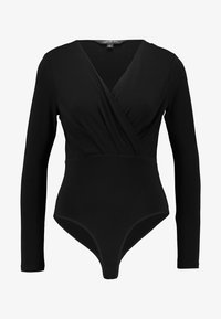 Forever New - LETTIE WRAP FRONT FITTED BODY - Pitkähihainen paita - black - 4