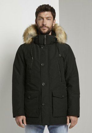 MIT FELLKRAGEN - Winter coat - black