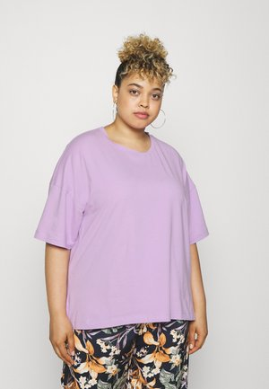 DROP SHOULDER - T-shirt con stampa - purple