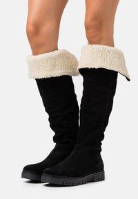 Tommy Jeans - WARM LINED LONG BOOT - Støvler - black - 0