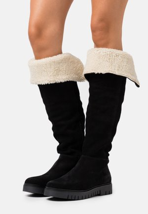 WARM LINED LONG BOOT - Boots - black