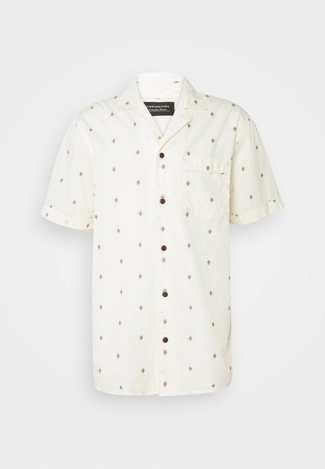 SHORTSLEEVE WITH HAWAIIAN COLLAR - Overhemd - beige/salmon
