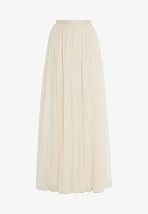 KISSES MAXI SKIRT - Falda larga - champagne
