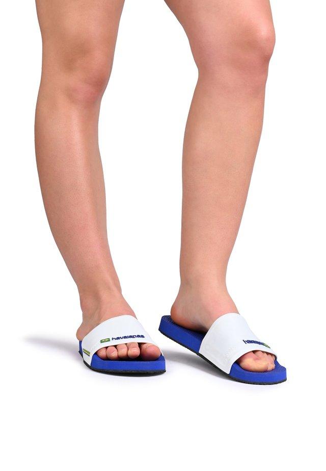 SLIDE BRASIL-TONGS - Sandales de bain - navy blue