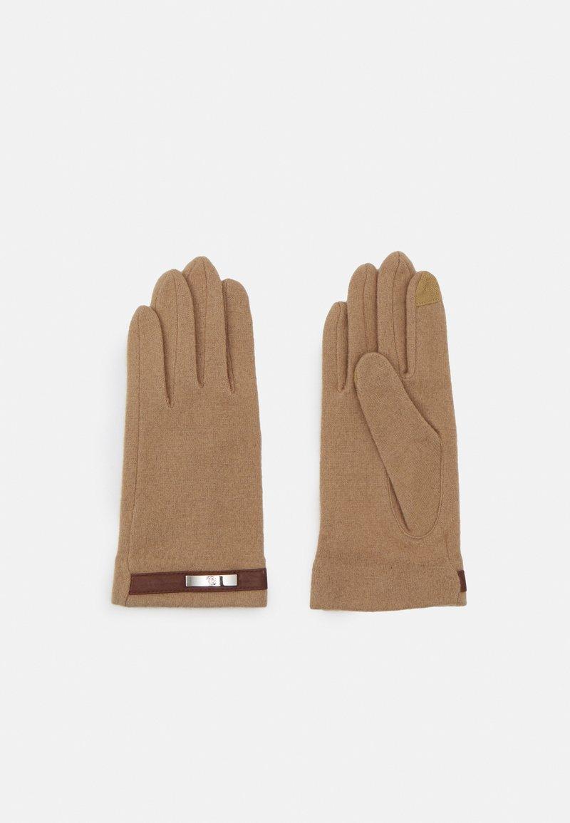 Lauren Ralph Lauren - BLEND BELTED GLOVE - Gloves - classic camel