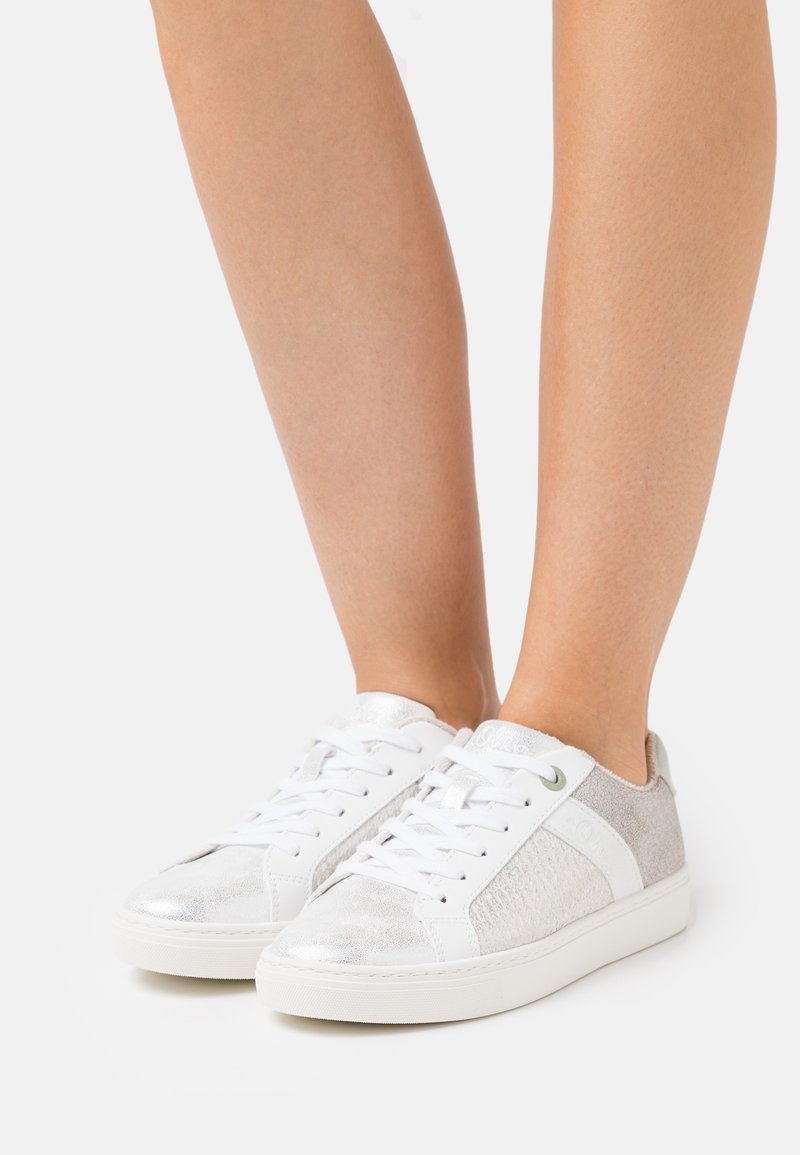 s.Oliver - LACE UP - Trainers - silver