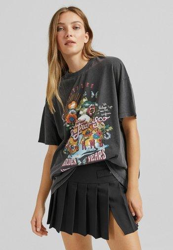 SAN FRANCISCO - T-shirt con stampa - mottled black