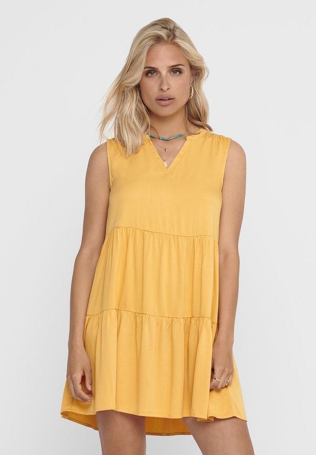 Day dress - golden apricot