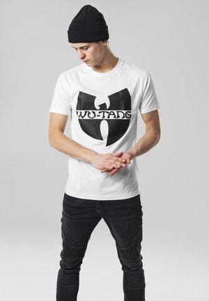 WU-WEAR LOGO - Print T-shirt - white