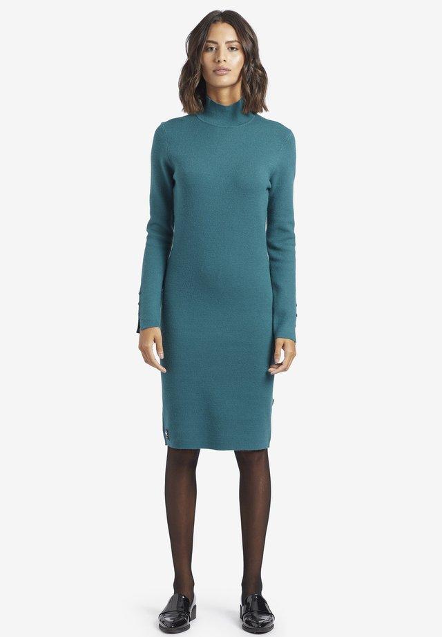 SAJA - Gebreide jurk - turquoise