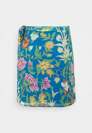 VIMAMU TIE WRAP SKIRT - Mini skirt - french blue