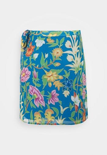 VIMAMU TIE WRAP SKIRT - Spódnica mini - french blue