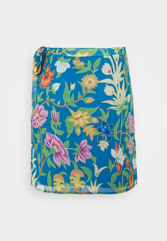 VIMAMU TIE WRAP SKIRT - Mini skirt - french blue