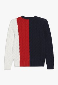Tommy Hilfiger - CABLE COLORBLOCK  - Strikpullover /Striktrøjer - blue - 1