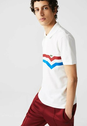 SHORT SLEEVE - Polo shirt - blanc/rouge/bleu