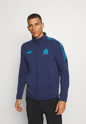 OLYMPIQUE MARSAILLE FTBL CULTURE TRACK JACKET - Club wear - peacoat/bleu azur