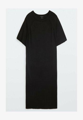 KURZÄRMELIGES - Jersey dress - black