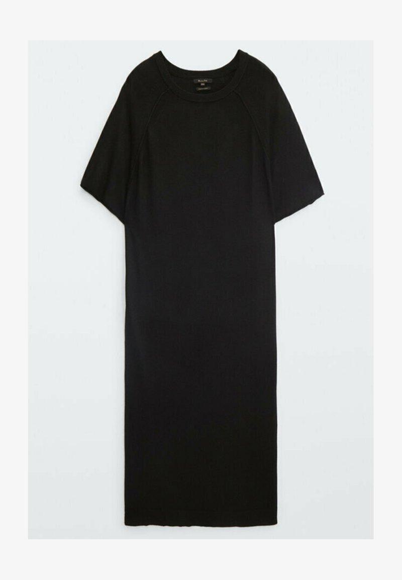 Massimo Dutti - KURZÄRMELIGES - Jersey dress - black