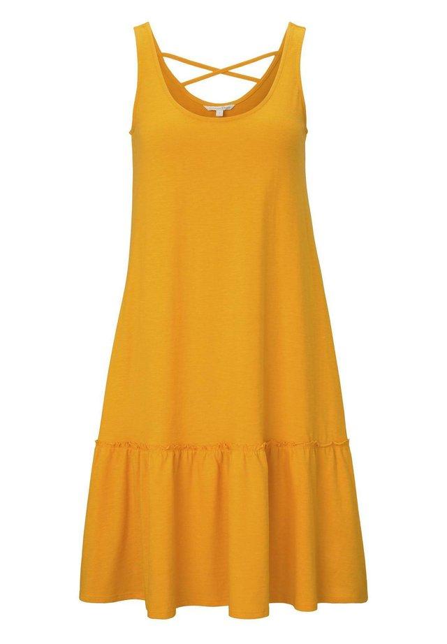 DRESS WITH BACK DETAIL - Jersey dress - orange yellow