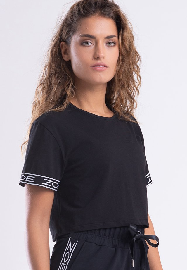 MY STRIPES - T-shirt imprimé - black