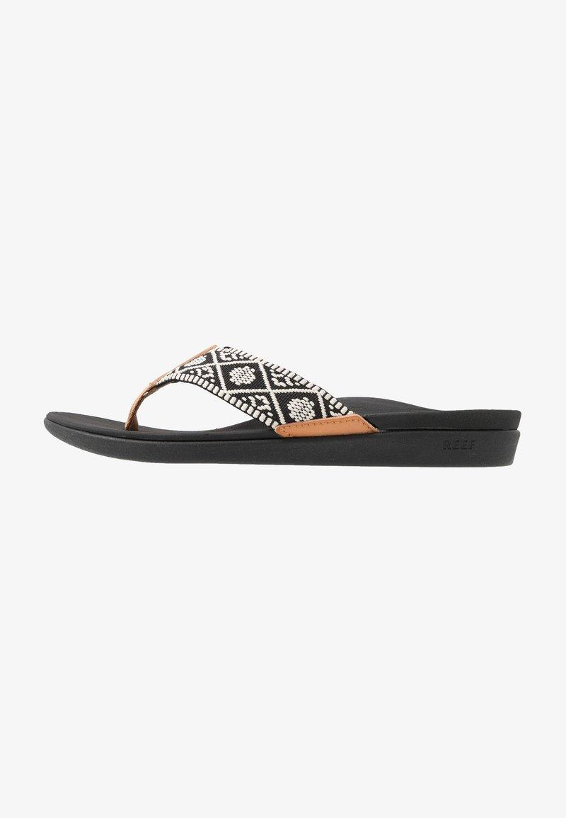 Reef - ORTHO-BOUNCE - Sandály s odděleným palcem - black/white