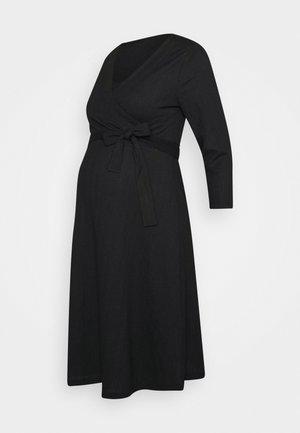 DRESS NURSING CRINCLE - Jerseyjurk - black