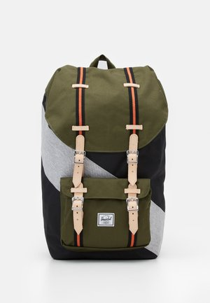 LITTLE AMERICA - Rucksack - black/ivy green/light grey