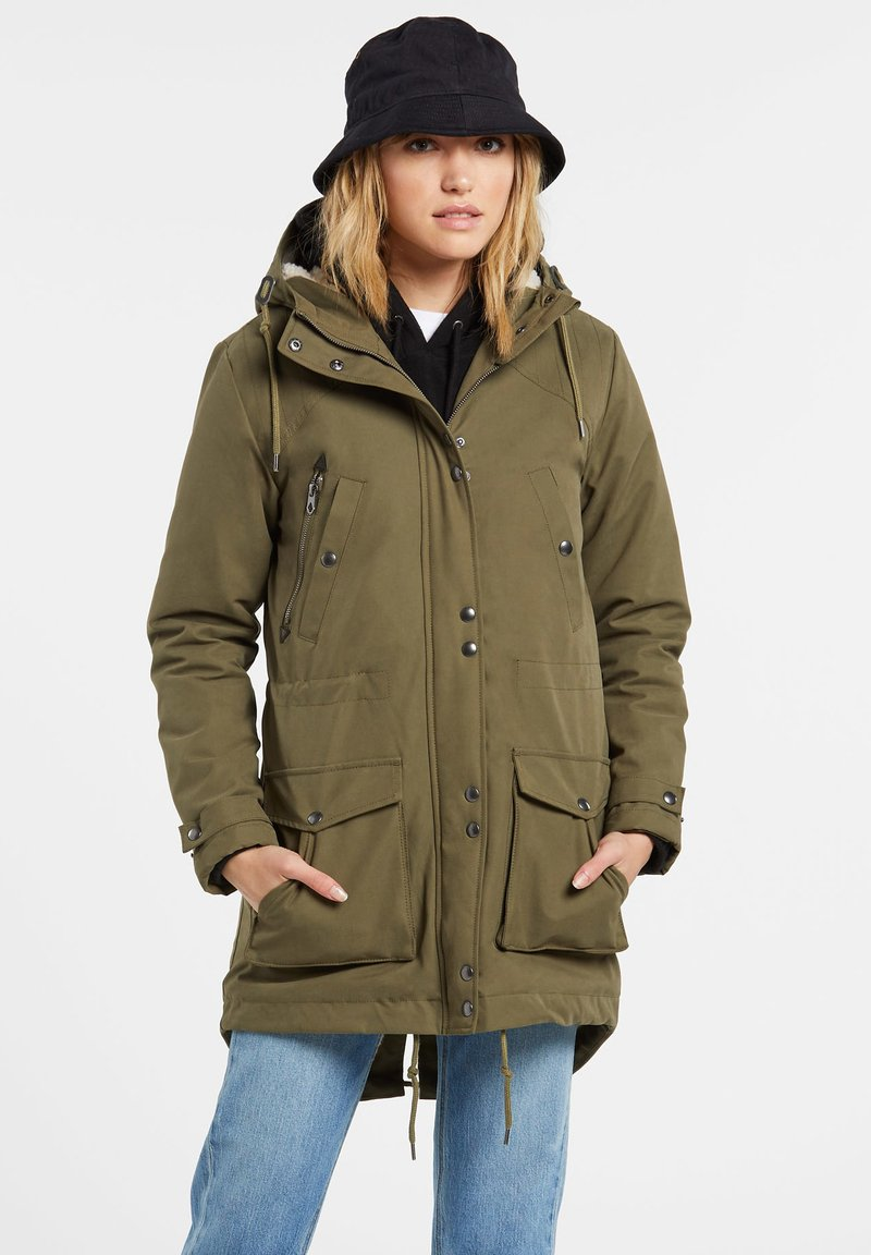 Volcom - WALK ON BY 5K PARKA - Winter coat - olive