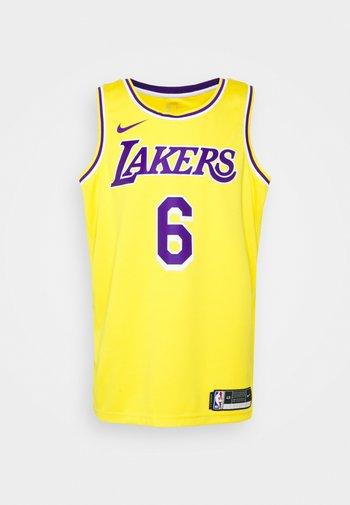 NBA LOS ANGELES LAKERS LEBRON JAMES ICON SWINGMAN  - Maglia NBA - gelb/lila