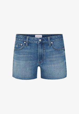 Denim shorts - da037 light blue cut hem