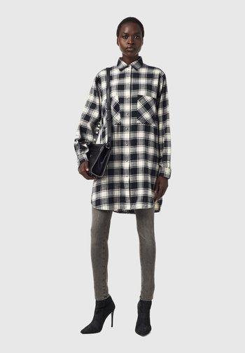 D SUPER I - Shirt dress - black/white