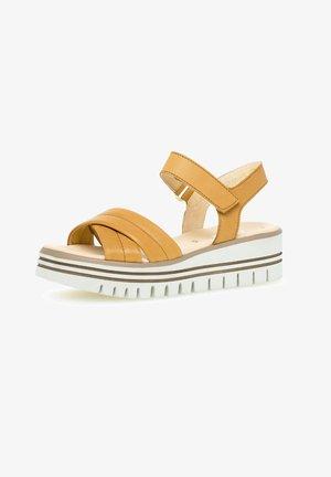 Platform sandals - cuoio