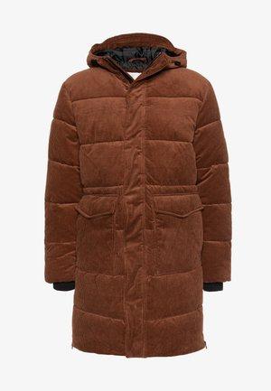 LONG PUFFER PARKA - Zimní kabát - toasted almond