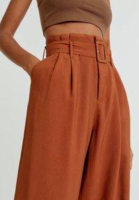PULL&BEAR - Trousers - mottled orange - 3