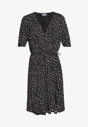 MINA DRESS ABOVE KNEE - Žerzejové šaty - black
