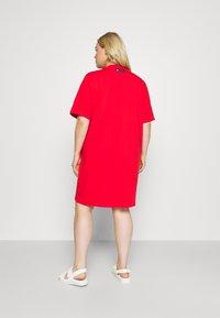 adidas Originals - TEE DRESS - Jersey dress - vivid red - 2