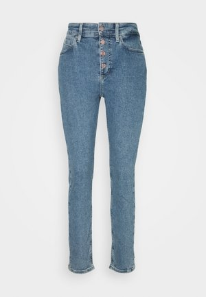 HIGH RISE SLIM PANT - Slim fit jeans - natal blue