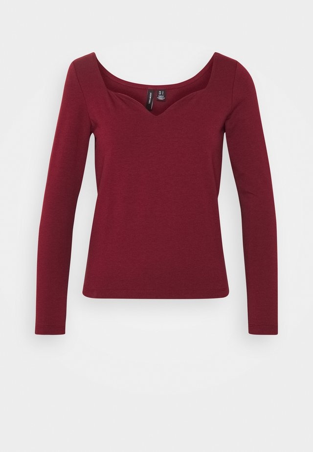 VMPANDA SWEETHEART  - Long sleeved top - cabernet