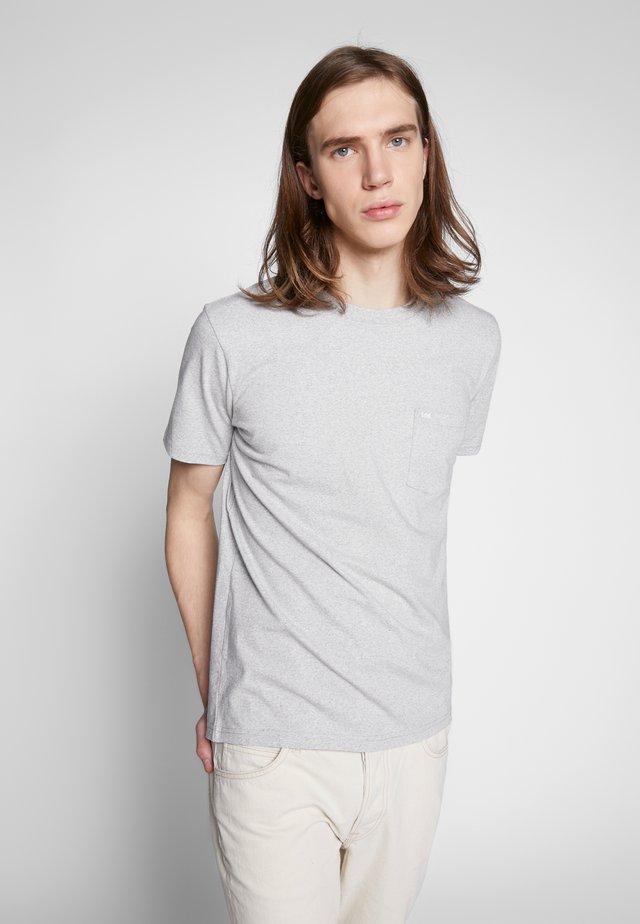 TEE - Basic T-shirt - grey mele
