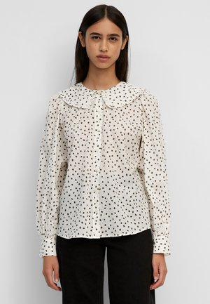 BLOUSE FRILL COLLAR PUFF SLEEVE STRAIGHT FIT - Blouse - multi/pistacchio shell