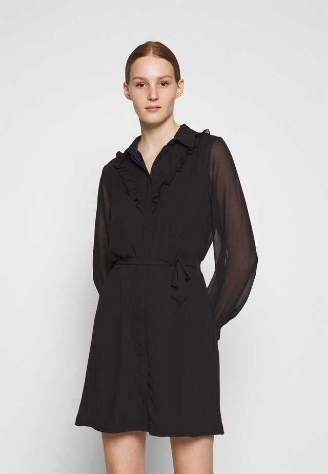 BIB MINI DRESS - Shirt dress - black