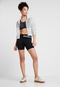 Nike Performance - FAST SHORT - Leggings - black/reflective silver - 1