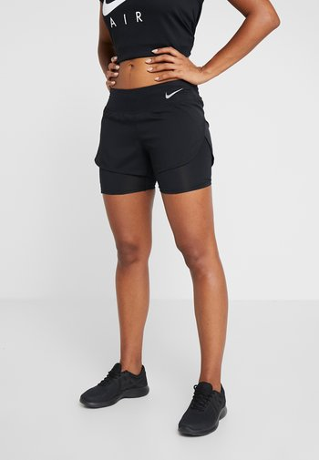 ECLIPSE 2 IN 1 - Sports shorts - black