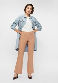 YAS - YASNUTEO FLARE PANT - Trousers - tawny brown - 1