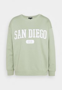 New Look - SAN DIEGO LONGLINE - Sweatshirt - light green - 0
