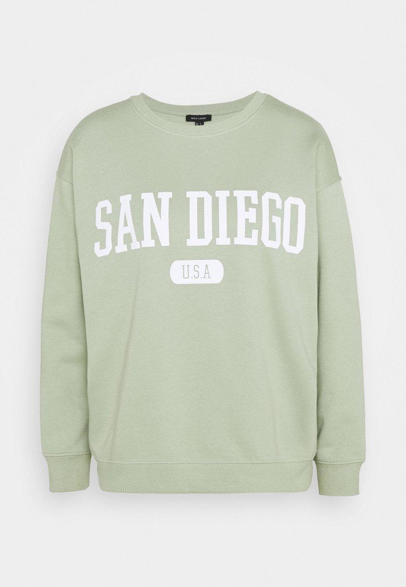 New Look - SAN DIEGO LONGLINE - Sweatshirt - light green