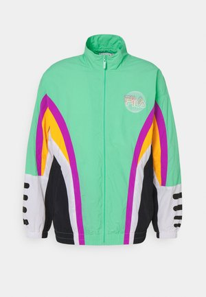 ACE WOVEN JACKET - Chaqueta de entrenamiento - biscay gree/black/flame orange/bright white/purple cactus flower